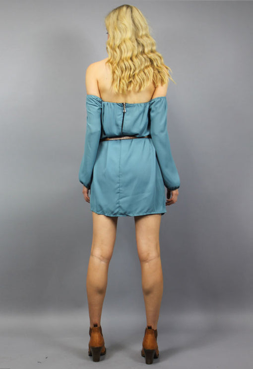 Hurricane Love Dress - TEAL
