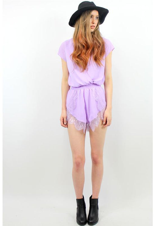 His Girl Holly Playsuit - LILAC