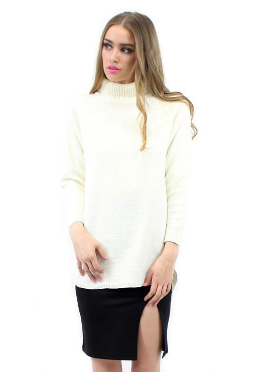 Turtleneck Knit - CREAM