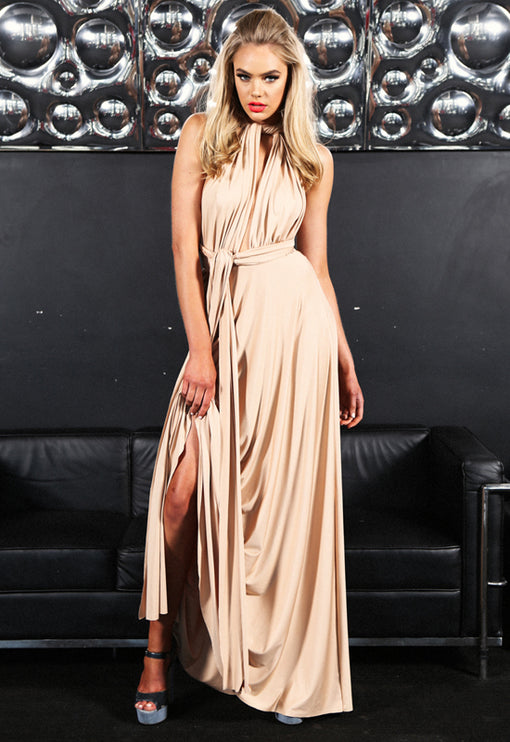 LUX Multiway Maxi Dress - CHAMPAGNE