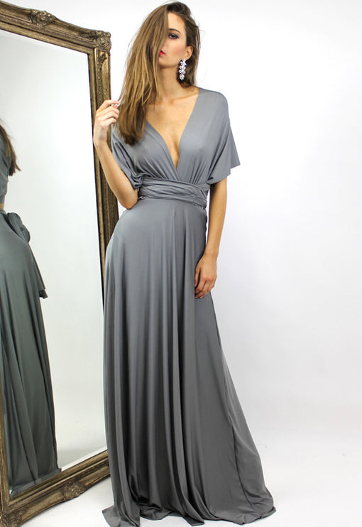 LUX Multiway Maxi Dress - GREY
