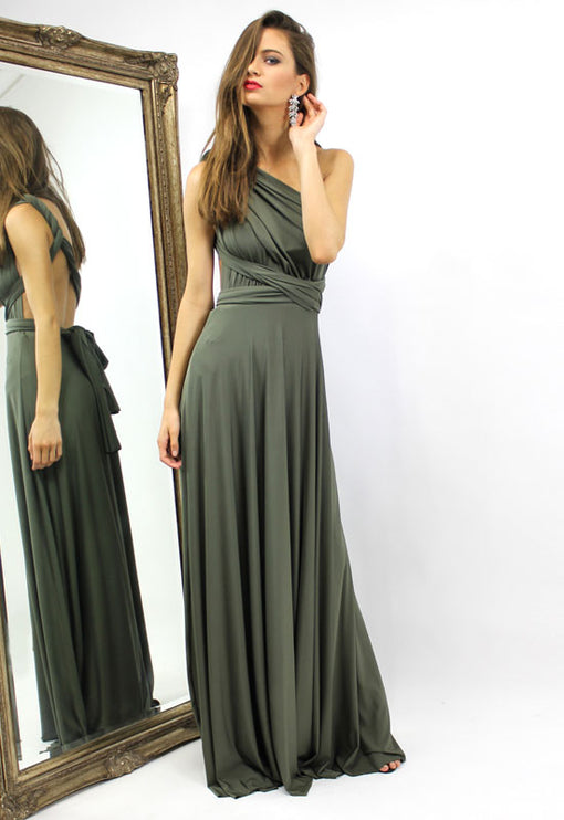 LUX Multiway Maxi Dress - OLIVE