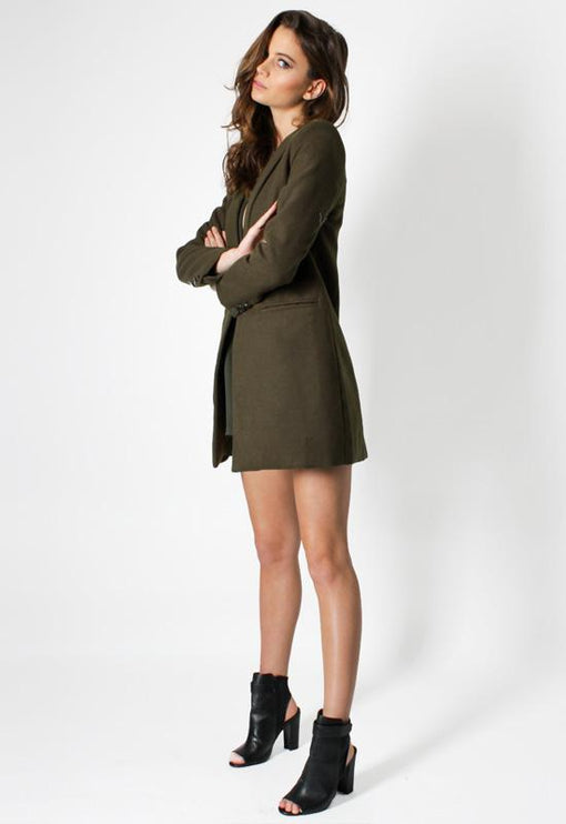 New Jupiter Lapel Coat - KHAKI