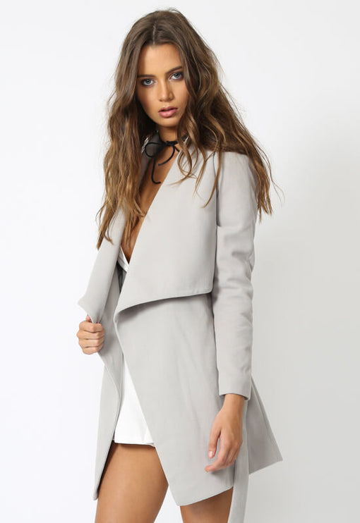 New York Minute Coat - GREY