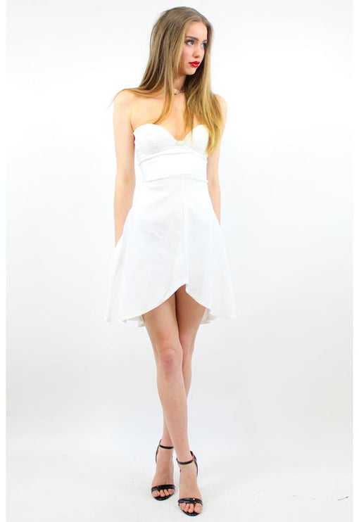 Symphony Bustier Dress - WHITE