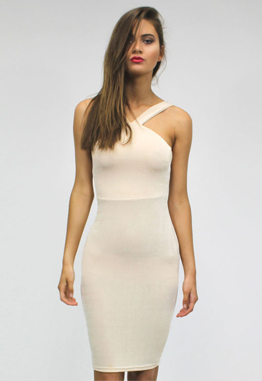 LUX Divine High Neck Dress - GOLD