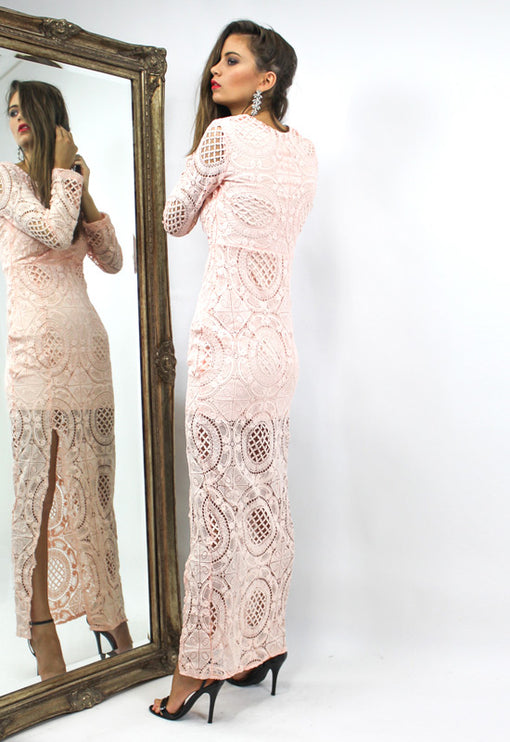 LUX Wisdom Maxi Dress - BLUSH