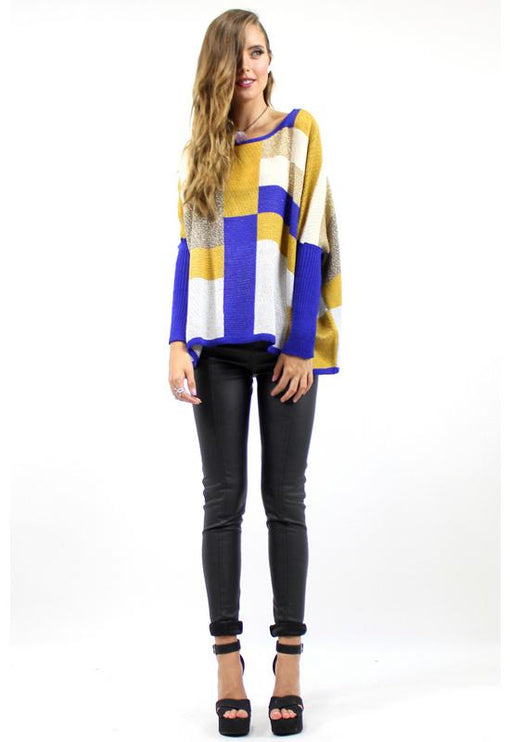 Tangled Secrets Batwing Knit - BLUE