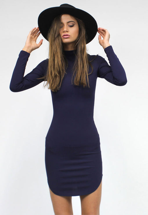 Edie Sedgwick Dress - NAVY