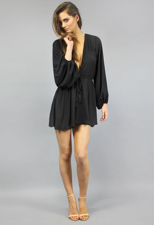 Free Love Playsuit - BLACK