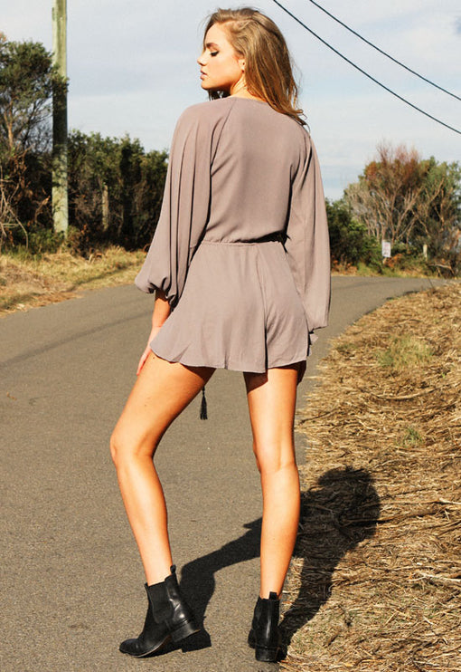 Free Love Playsuit - GREY