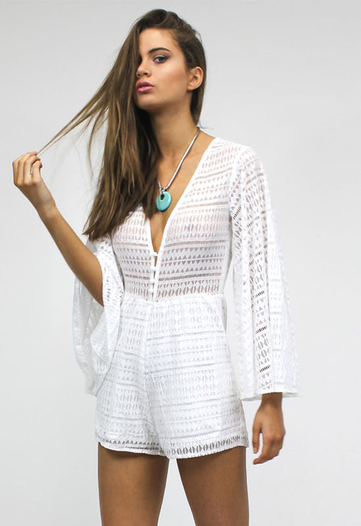 Gypsy Love Romper - WHITE
