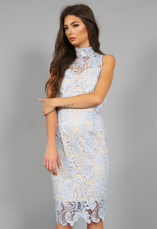 Loves Divine Midi Dress - BLUE