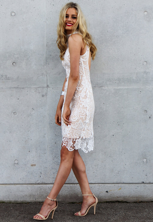 Loves Divine Midi Dress - WHITE
