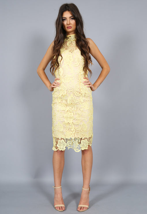 Loves Divine Midi Dress - YELLOW
