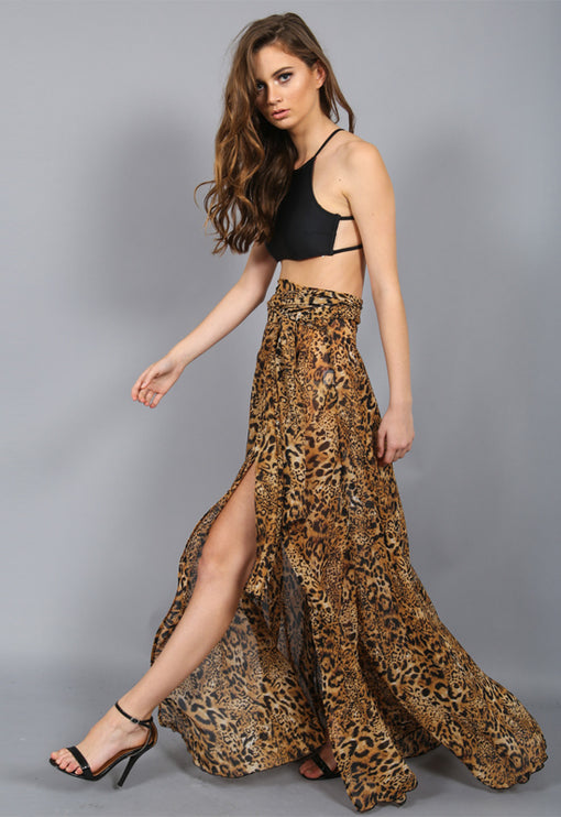 Voltage Maxi Skirt - LEOPARD PRINT