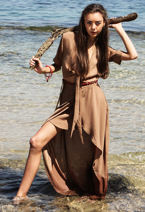 Chasing Summer Maxi Dress - BROWN