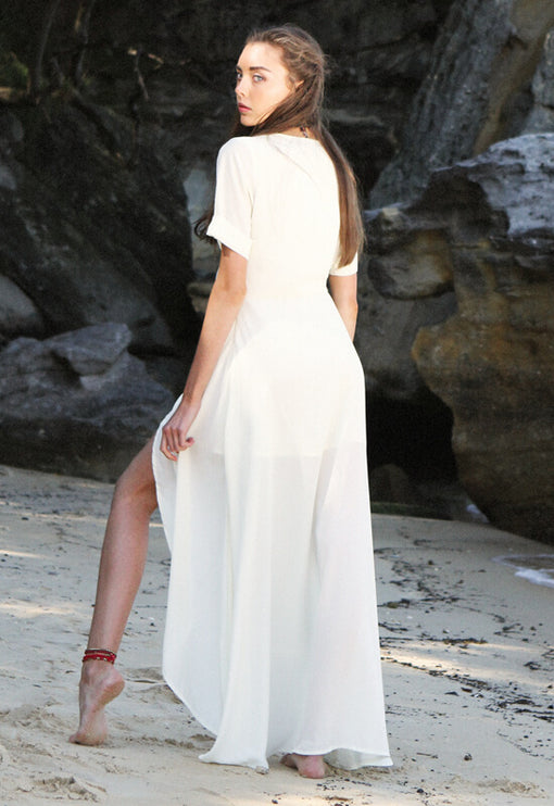 Chasing Summer Maxi Dress - CREAM