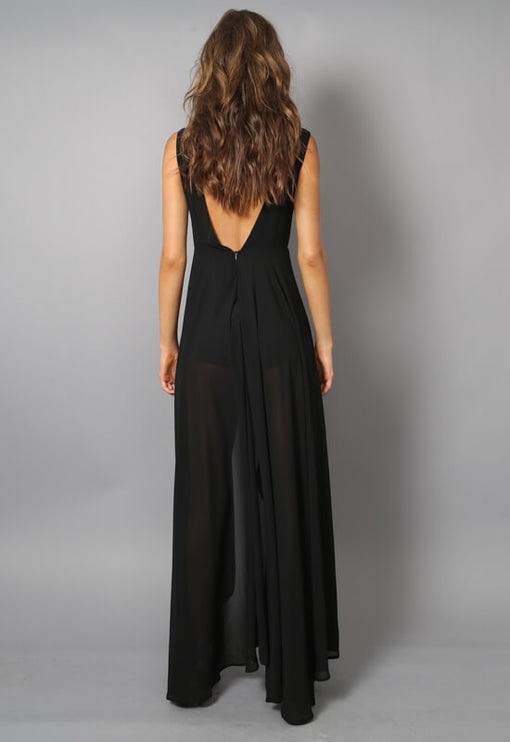 Cest Vogue Maxi Romper - BLACK