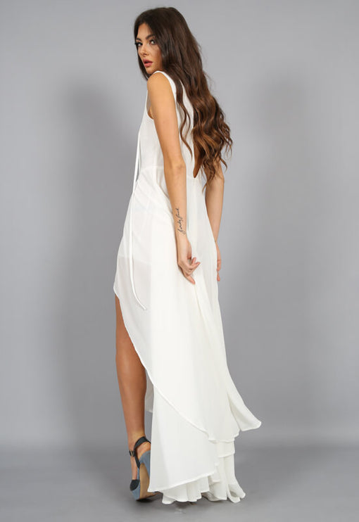 Cest Vogue Maxi Romper - WHITE
