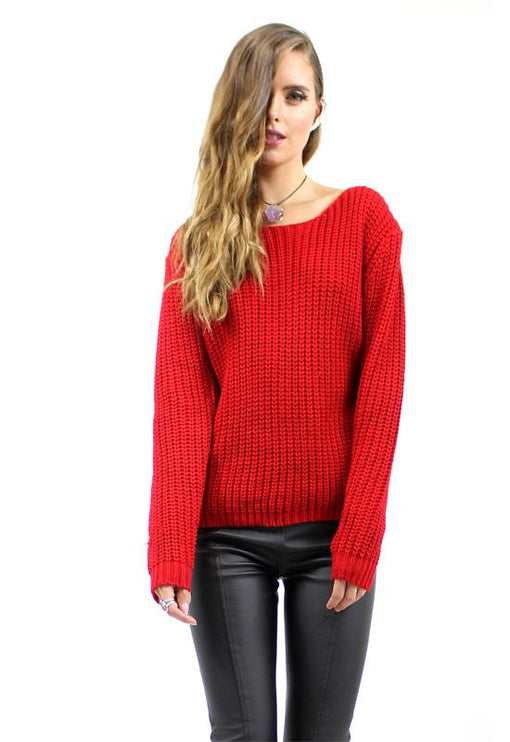 Lace Me Knit - RED