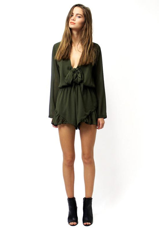 Clarity Playsuit - KHAKI