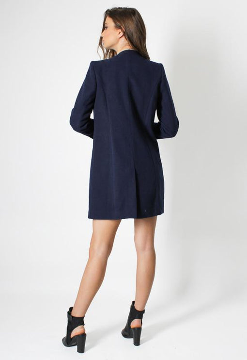 New Jupiter Lapel Coat - NAVY