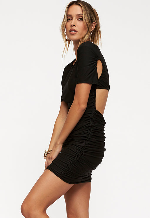 Miss California Mini Dress - BLACK