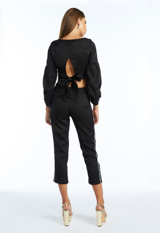 Brody Cropped Pants - BLACK