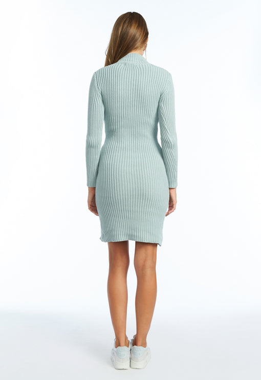 Manhattan Knit Dress - CLOUDY GREY
