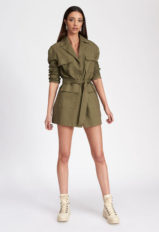 Line Them Up Mini Dress - SAGE