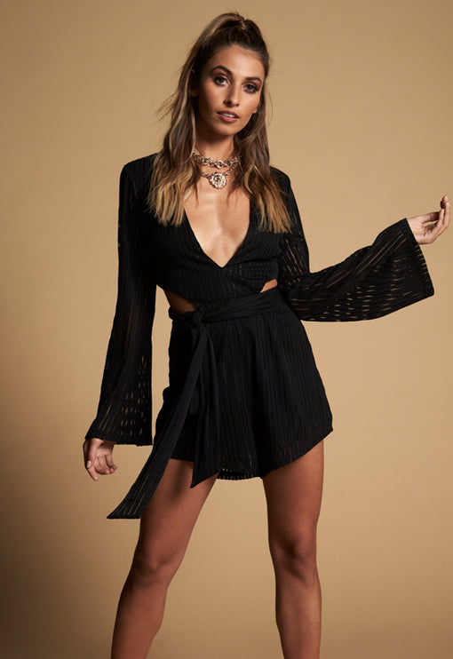 Alira Playsuit - BLACK