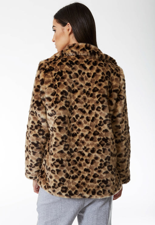 Good At Being Bad Faux Fur - LEOPARD