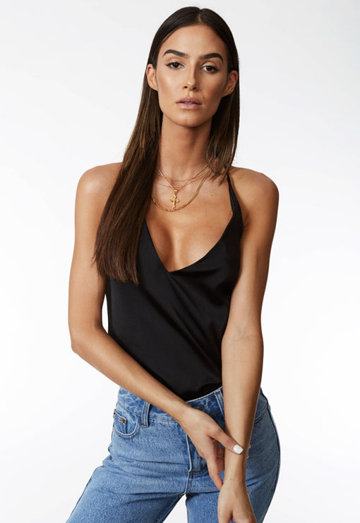Low Profile Backless Top - BLACK
