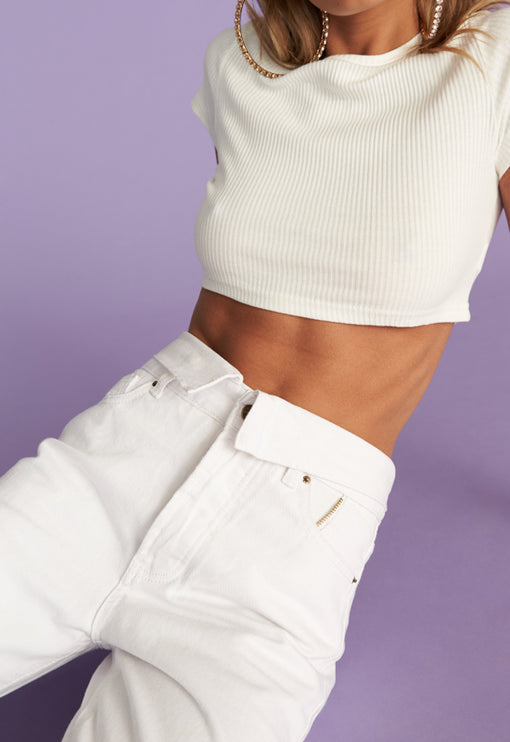 Keep It Cropped Tee - WHITE