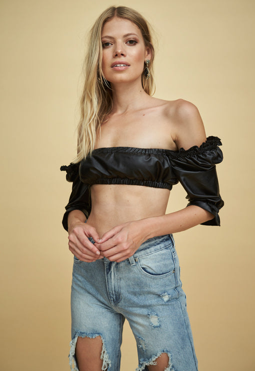 The Valentina Top - BLACK