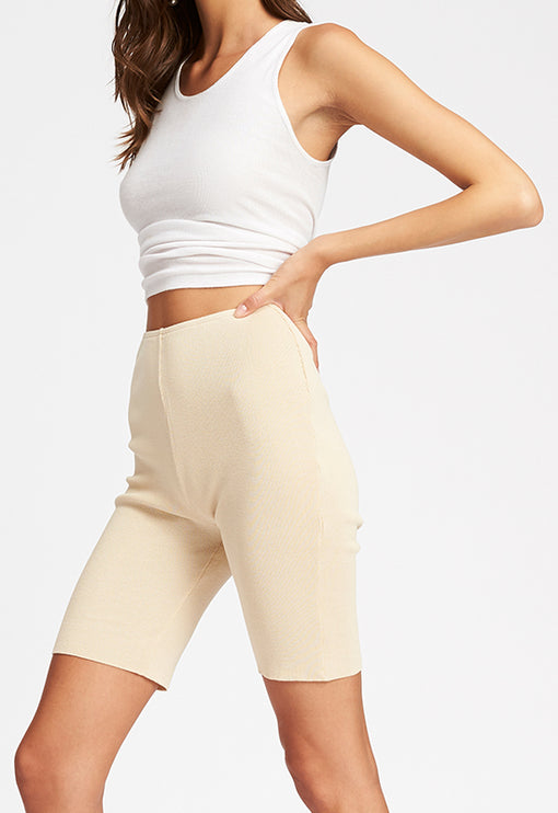 Fall In Line Bike Shorts - ECRU