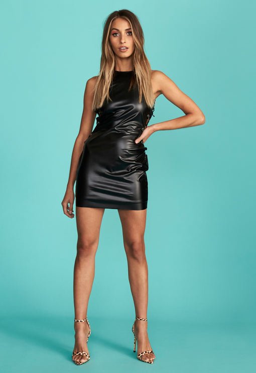 San Marino Mini Dress - BLACK