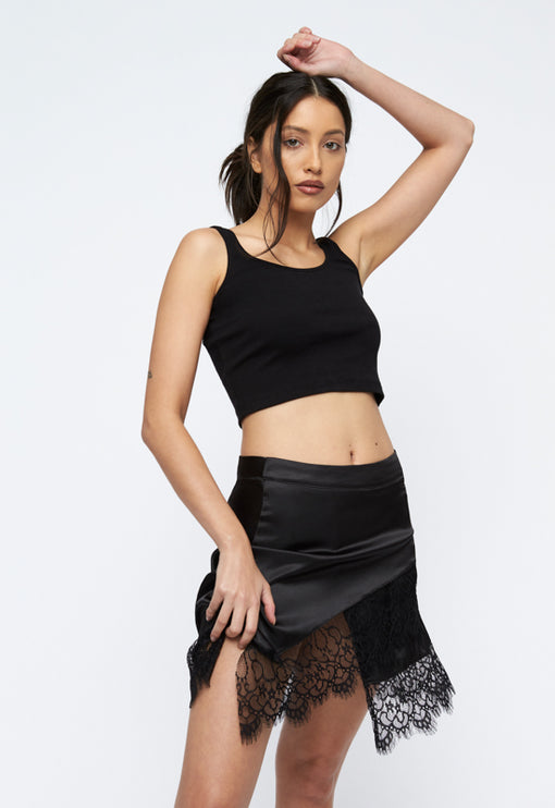 Sweet Valley Mini Skirt - BLACK
