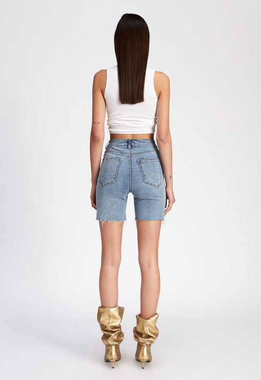Fine Thang Shorts - LIGHT DENIM