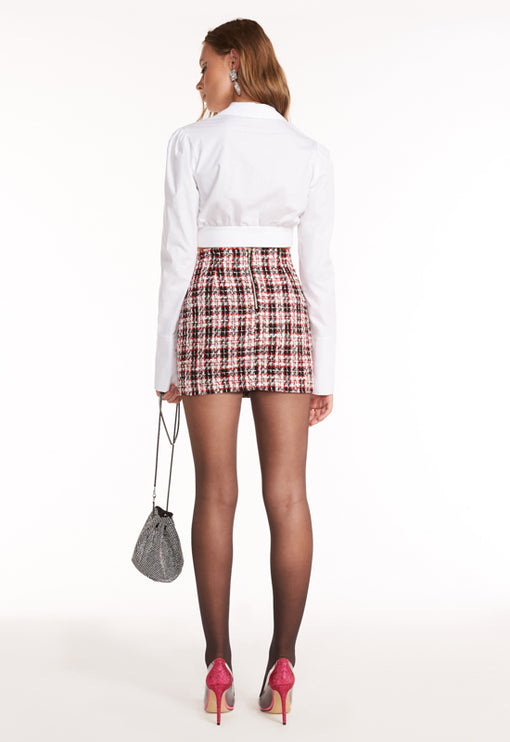 The South Bank Skirt - RED TWEED