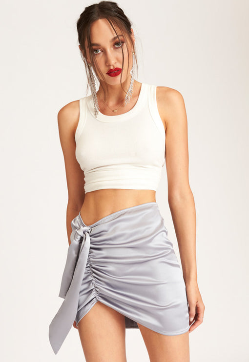 Diamonds In The Sky Mini Skirt - SILVER