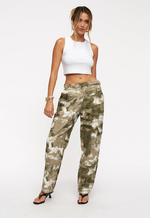 Bad Habits Pant - GREEN CAMO