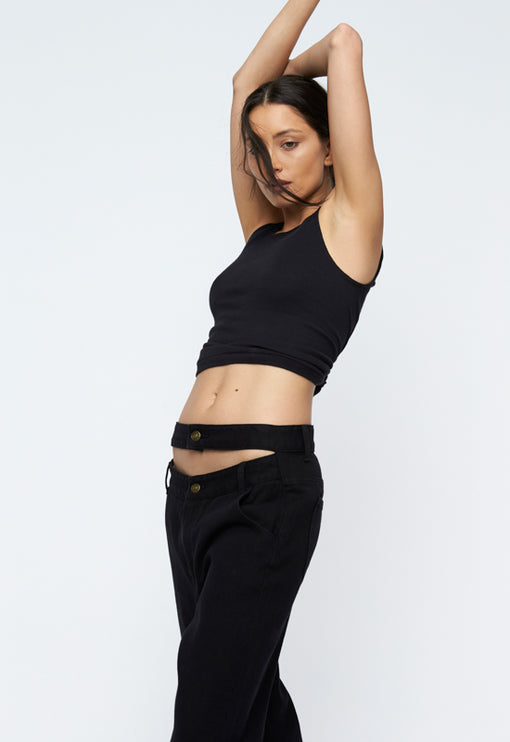 Nothing But A Dream Jeans - BLACK DENIM