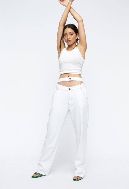 Nothing But A Dream Jeans - WHITE DENIM