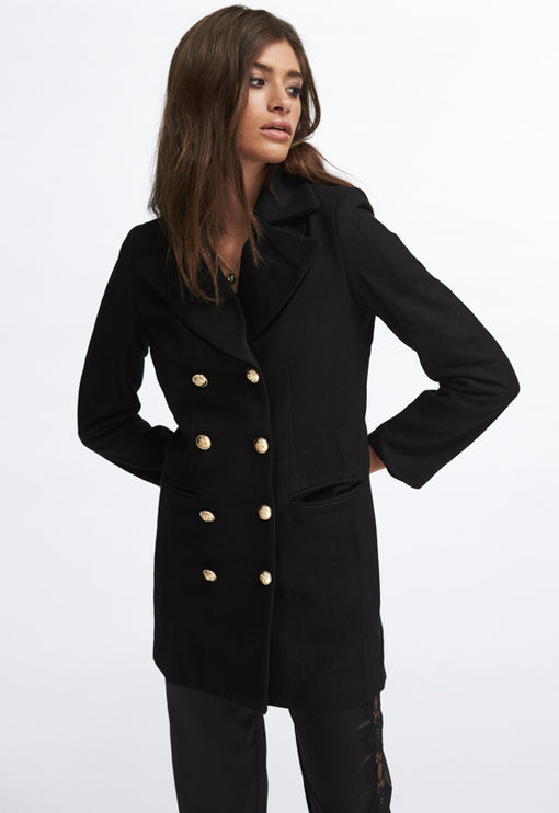 Bad Romance Coat - BLACK