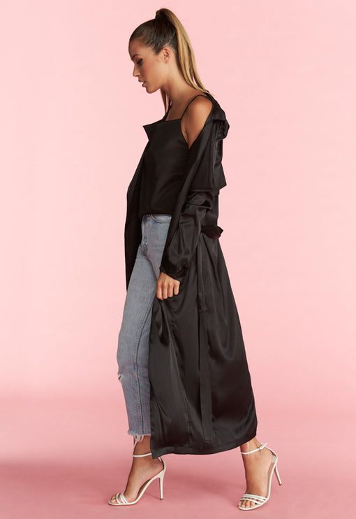 Grand Entrance Trench - BLACK