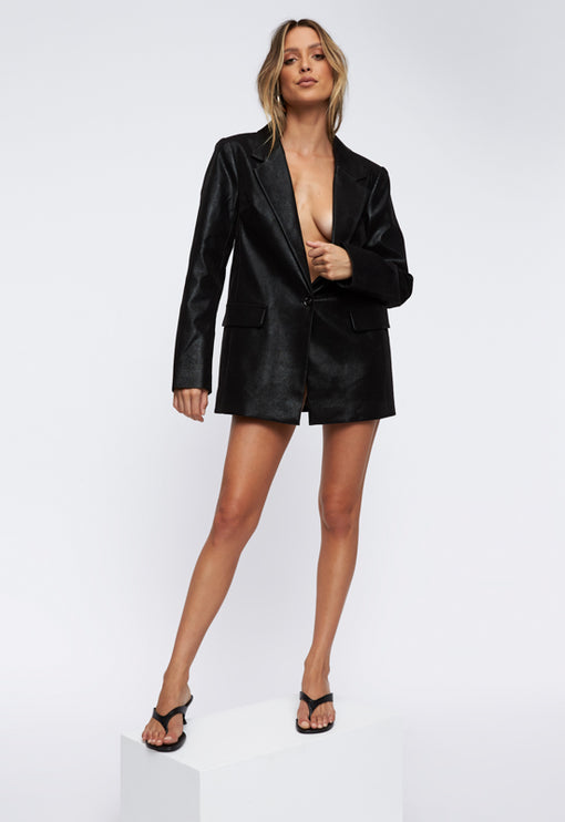 The West Village Blazer - BLACK CROC