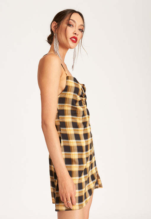 Suncity Mini Dress - YELLOW CHECK