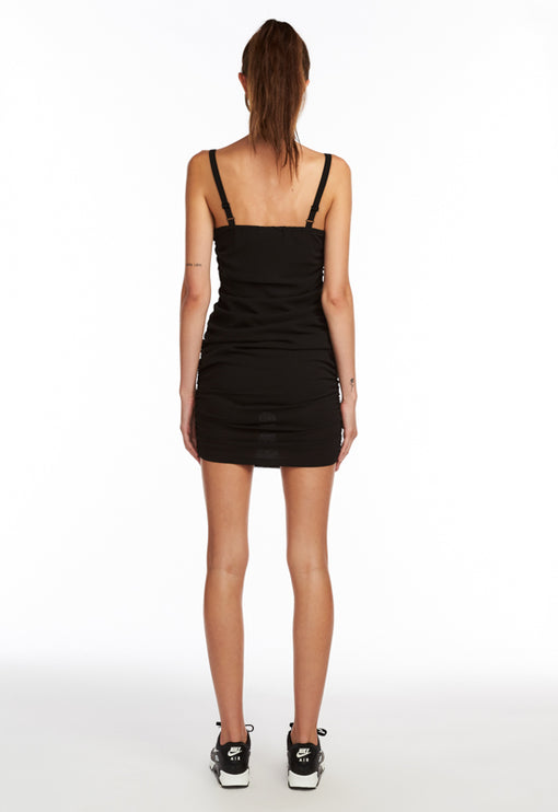 Mysterious Girl Mini Dress - BLACK